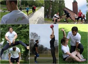 jobba med träning och hälsa