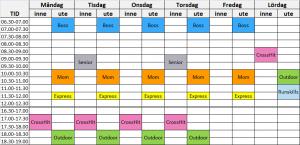 träningsklasser liljeholmen
