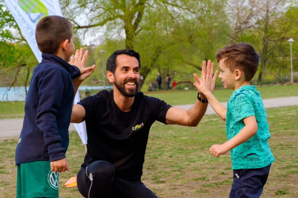 träning för barn ute